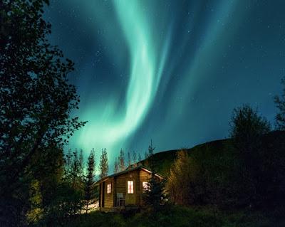 aurora borealis in the FARNORTH by Bob O'Connor