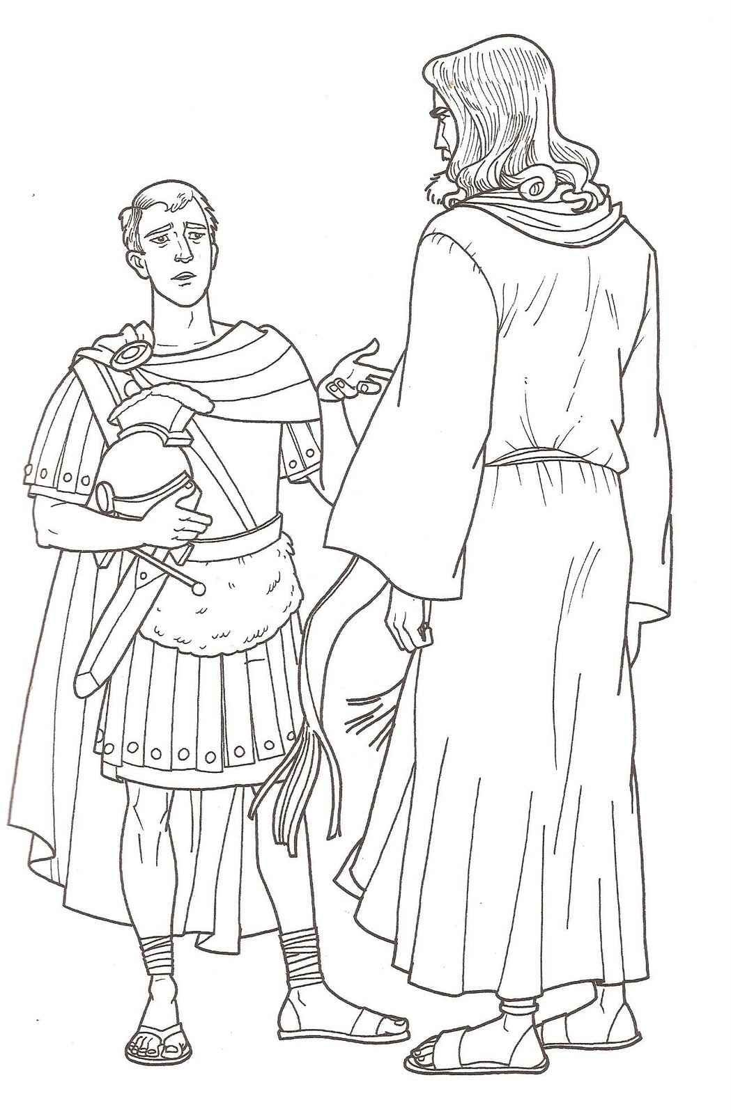 centurion servant coloring pages - photo#3