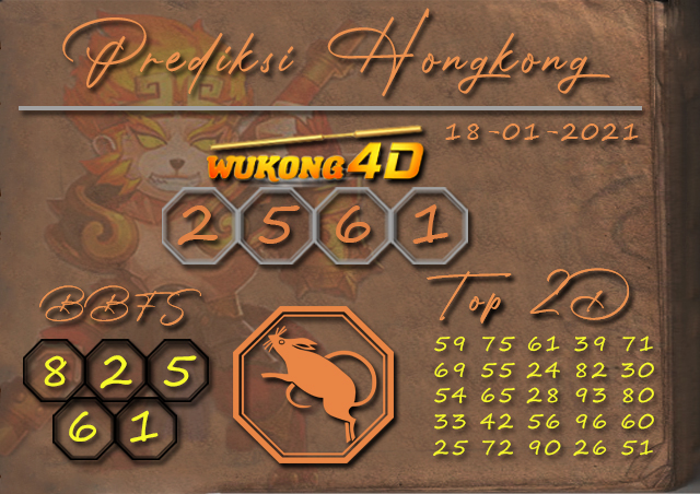 PREDIKSI TOGEL HONGKONG WUKONG4D 18 JANUARY 2021