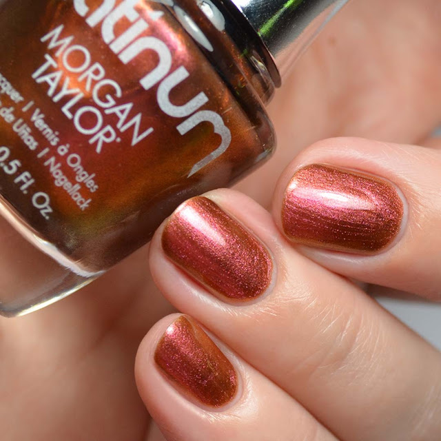amber duo chrome nail polish
