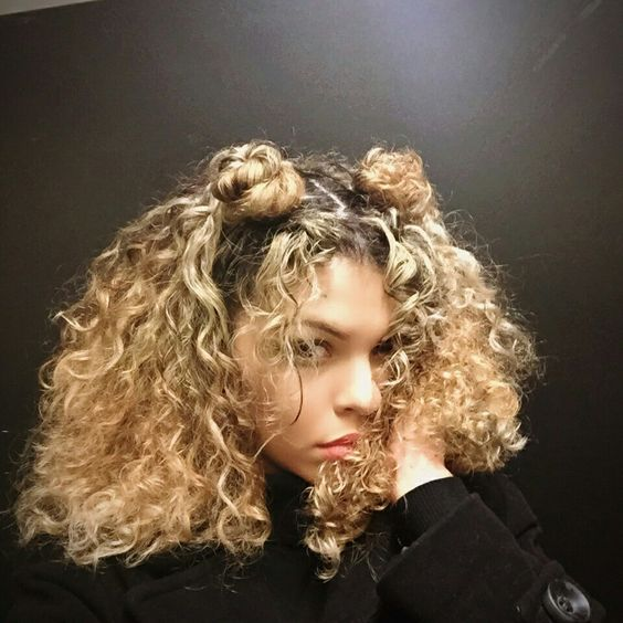 Black W Blonde Highlights
