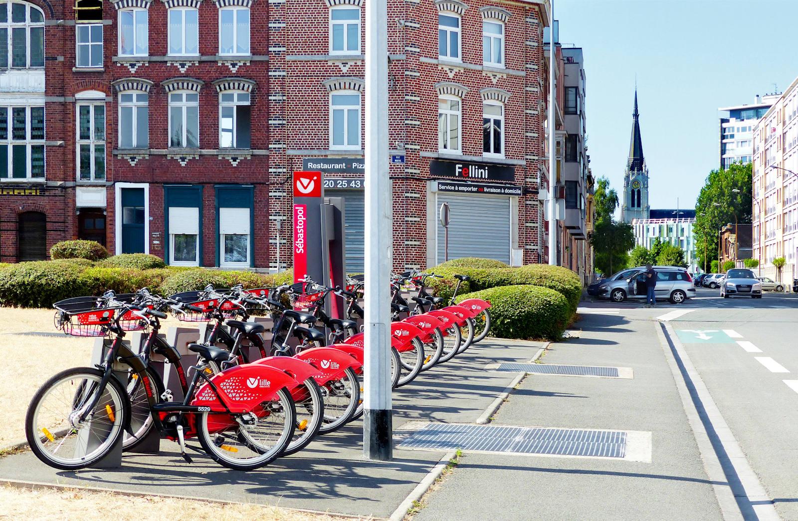 Sébastopol V'Lille location vélos - Tourcoing, rue carnot