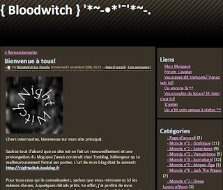L'Antre de Bloodwitch, de novembre 2006 à décembre 2008