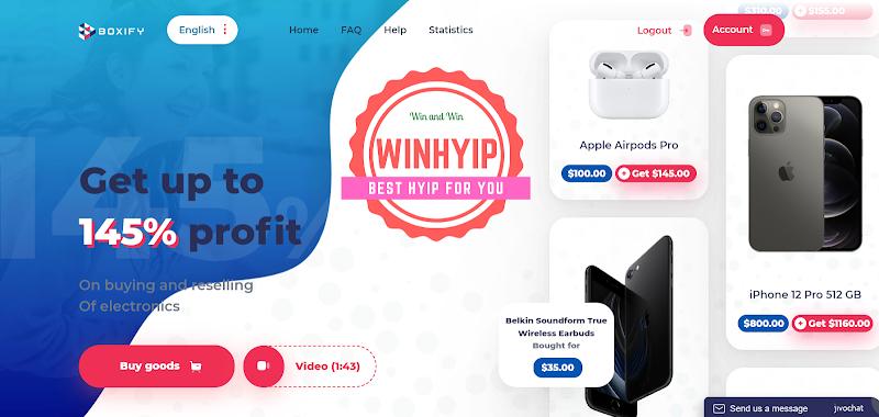 Boxify review - Dự án đầu tư dài hạn với mức lãi 1% hằng ngày - Thanh toán tức thì