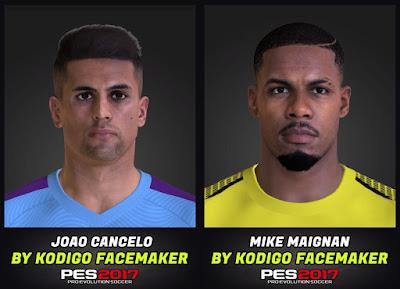 PES 2017 Faces Joao Cancelo & Mike Maignan by Kodigo