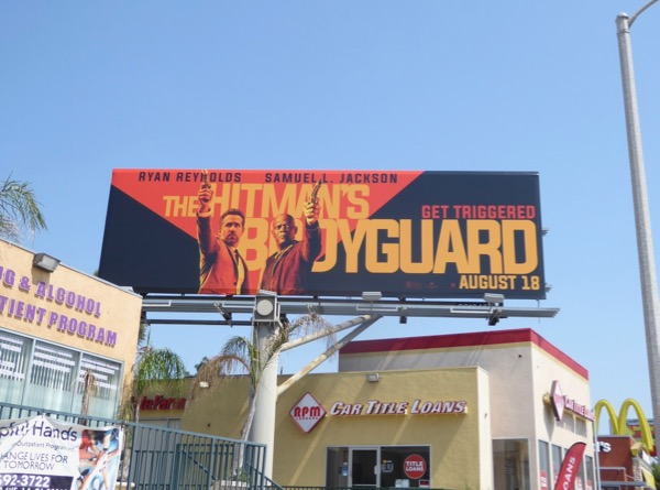 Hitmans Bodyguard film billboard