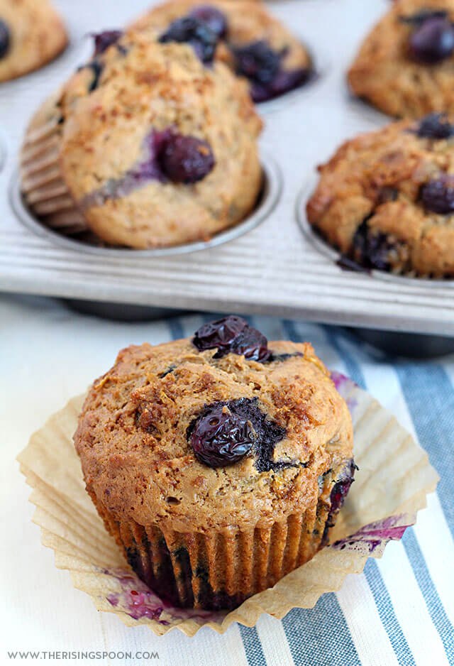 Easy Blueberry Muffins with Sour Cream & Lemon