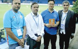 Sports Minister Kiren Rijiju launches AIFF Golden Baby Leagues handbook