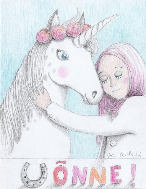 unicorn birthday card horses horseshoe happy birthday