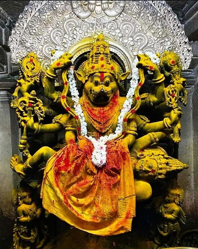Lord Narasimha Photo of ancient idol
