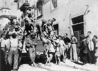 Italian citizens hailed the Brazilians as heroes