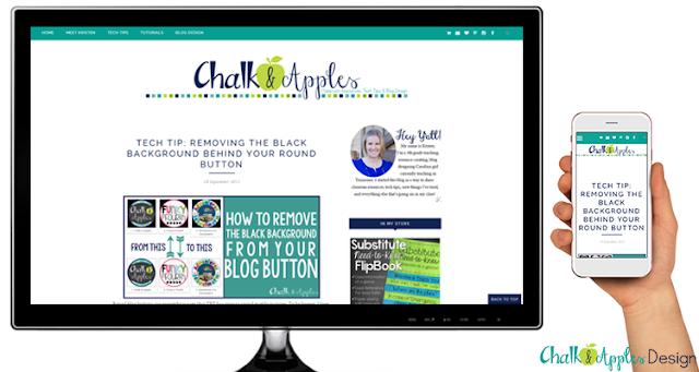 Mobile Responsive Blog Designs by Chalk & Apples
