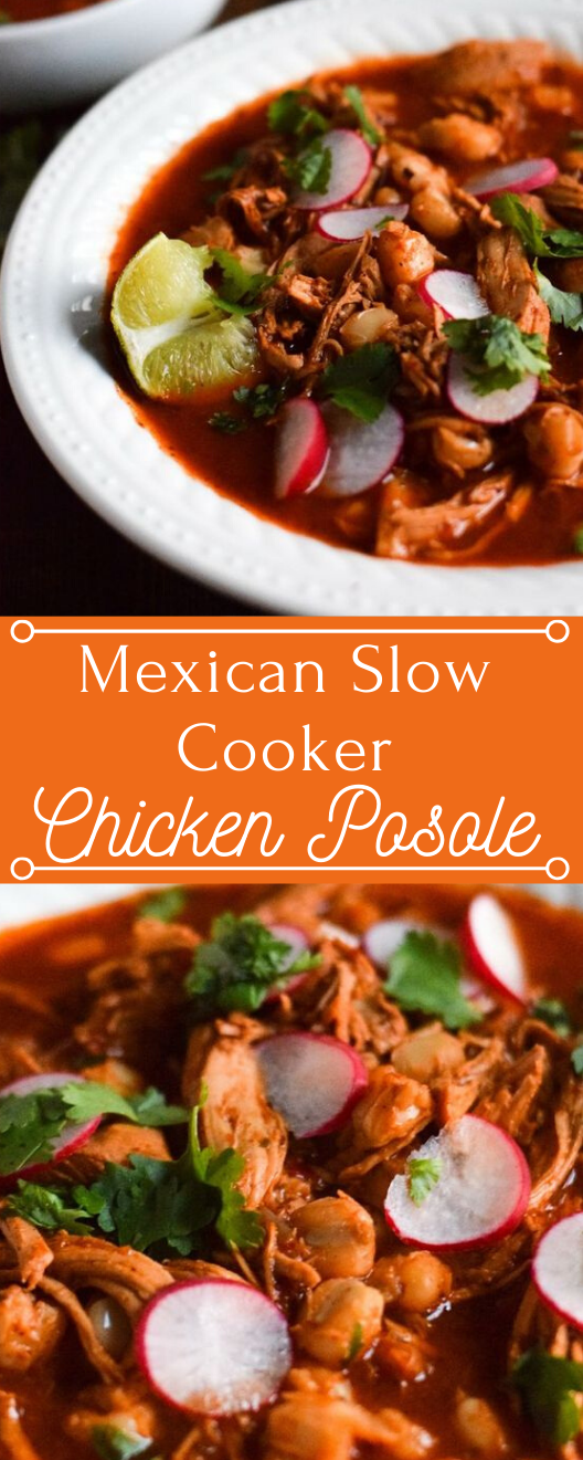 SLOW COOKER CHICKEN POSOLE #dinner #chicken #food #recipes #cooker