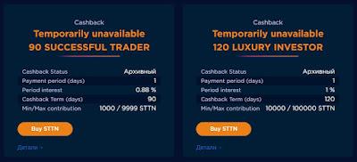 Тарифные варианты для инвестирования в хайп проект Start Trading Tiger Now