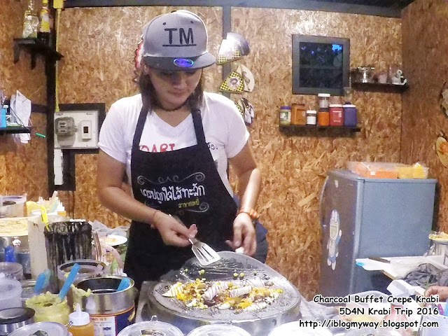 Charcoal Buffet Crepe Krabi @ 5D4N Krabi Trip 2016