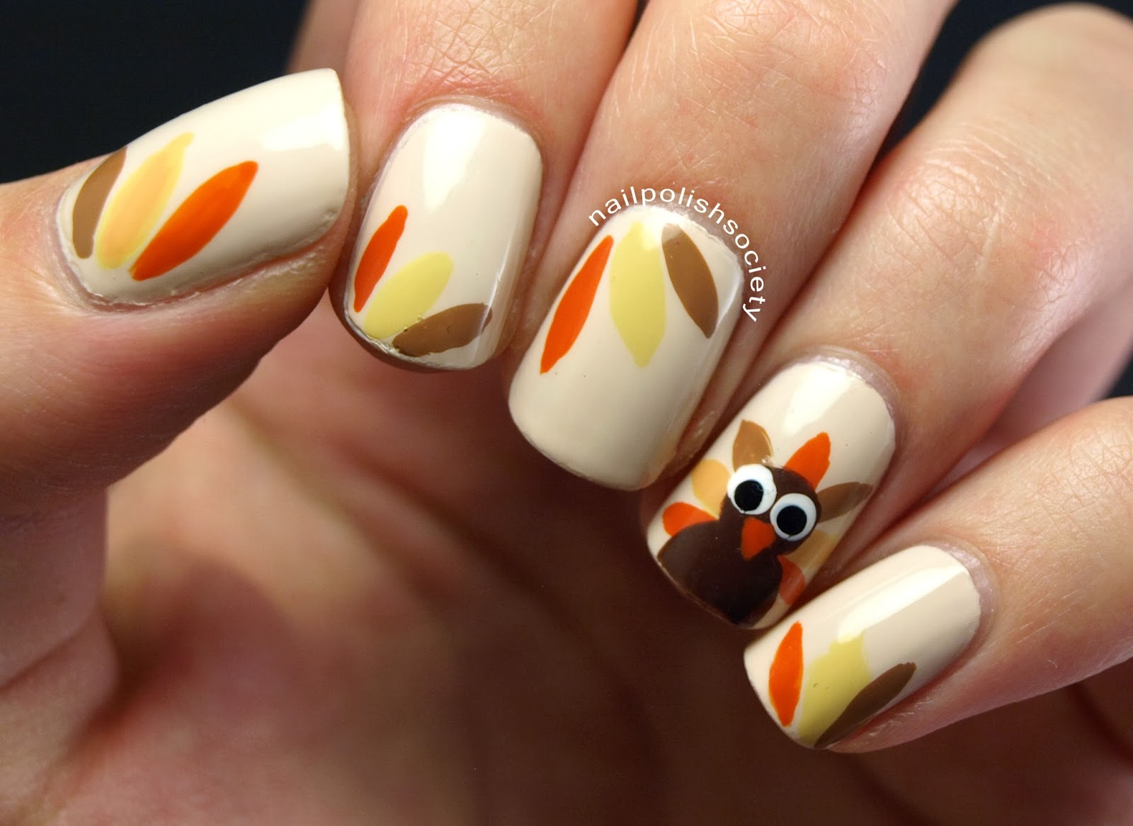 Nail Polish Society: Thanksgiving Turkey Nails