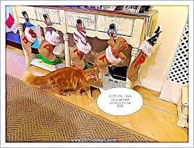 Fudge Sees His Pressie ©BionicBasil® Caturday Art