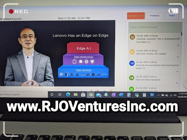 Lenovo Tech World 2020 - richardjohn786 - RJO Ventures Inc - Yuanqing Yang