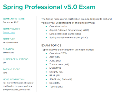 Is it Possible to take Spring Professional v5.0 Certification without training course?
