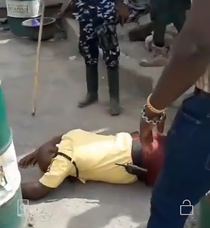 LASTMA Official allegedly beaten to coma by police officer while on duty in Apapa Lagos(video)
