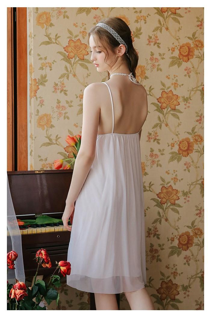 Váy ngủ tiểu thư dễ thương nhẹ nhàng 7