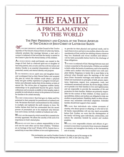 photo regarding The Family a Proclamation to the World Free Printable titled A Calendar year of FHE: Yr 01/Lesson 14: A Proclamation in direction of the