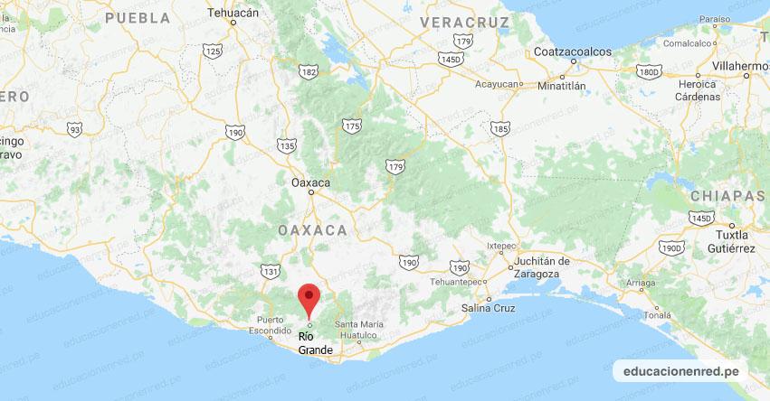 Temblor en México de Magnitud 4.2 (Hoy Martes 27 Agosto 2019) Sismo - Epicentro - Río Grande - Oaxaca - OAX. - SSN - www.ssn.unam.mx