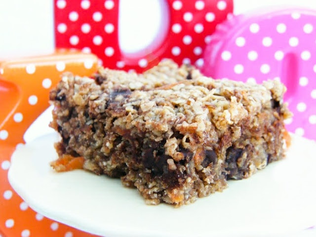 Scottish Carrot, Banana and Chocolate Chip Flapjacks