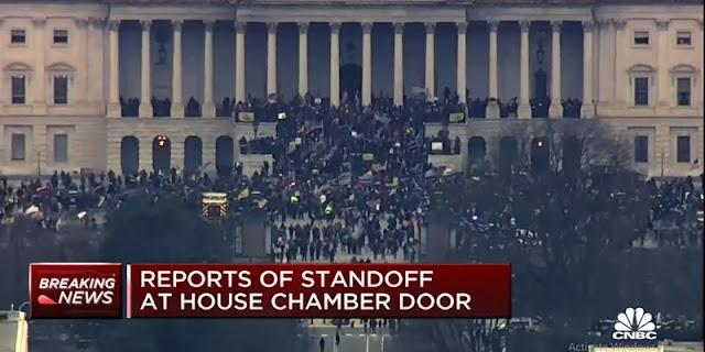 Gedung Capitol Dikepung, Pendukung Trump Kacaukan Sidang Kongres Sambil Teriak: Trump Yang Menang!