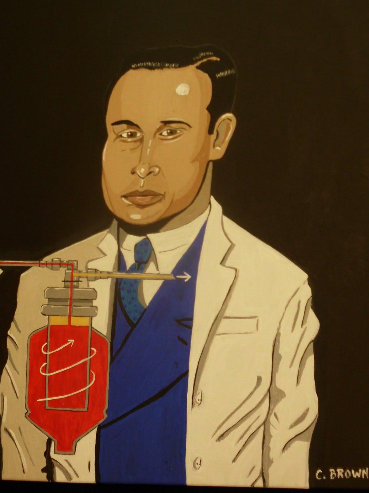 An African American Artist Dr Charles Drew Blood