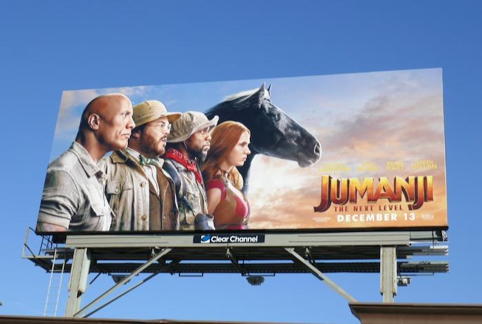 Jumanji Next Level movie billboard