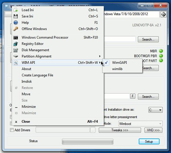 How to use wimlib instead of imagex or wimgapi in WinNTSetup3