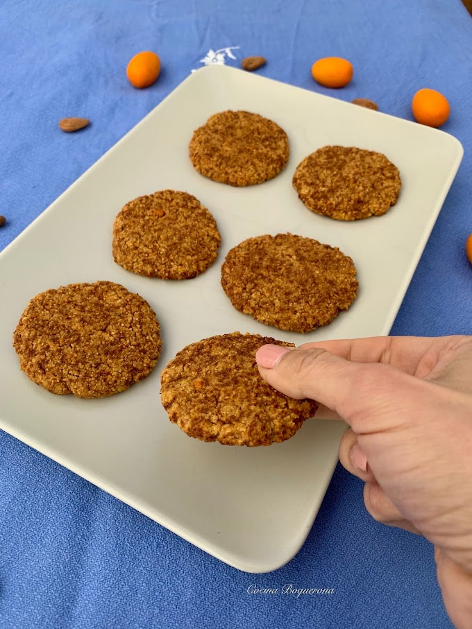 Galletas de kumquats, almendra y coco