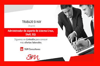 empleo y trabajo como Administrador de Soporte de Sistema Linux Shell sql en Bogota