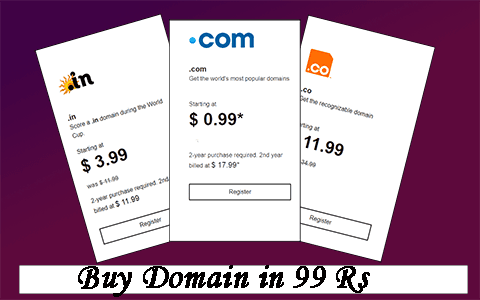Buy a Domain in Cheap Price by the Help of Godaddy 99 Promo Code