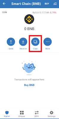 BEP-20 Address Pada Trust Wallet