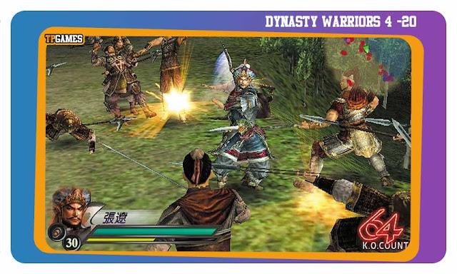 لعبة DYNASTY WARRIORS 4