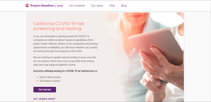A Website for Screening and Testing COVID19