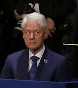 Bill Clinton looking guilty