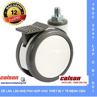 Bánh xe đôi trục ren cọc vít Colson Mỹ giá tốt tại Hà Nội www.banhxedayhang.net
