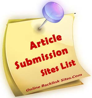 Free Article Submission Sites List for SEO