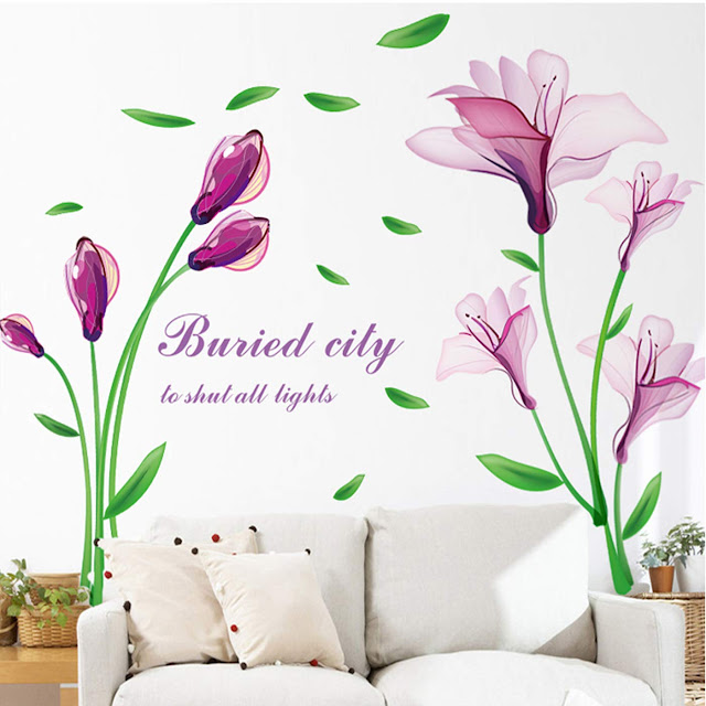 Flower Wall Sticker with Buried City