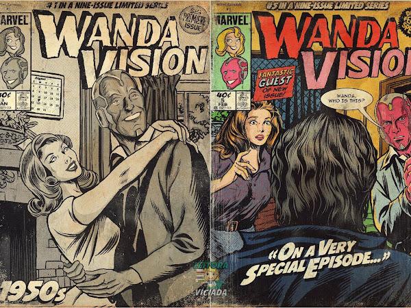 Ilustrações: cada episódio de WandaVision transformado em capa de HQ estilo retrô