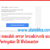 Memperbaiki Error Markup Breadcrumbs Search Console