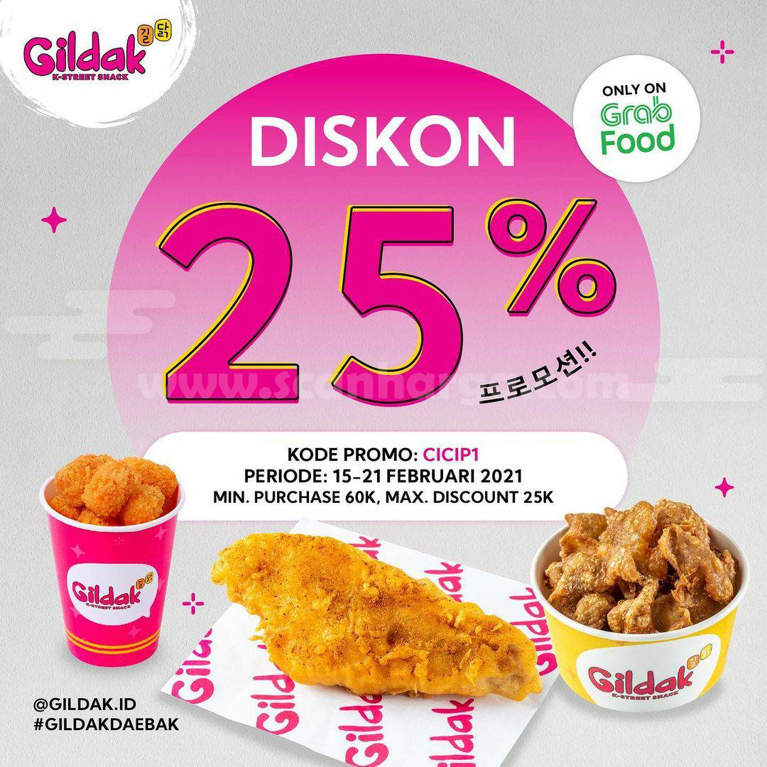 GILDAK GRABFOOD! Promo Diskon hingga 25%