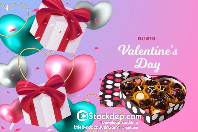 valentine's day sale background stock miễn phí
