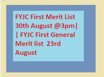 FYJC First Merit List 30th August @3pm|  | FYJC First General Merit list  23rd August