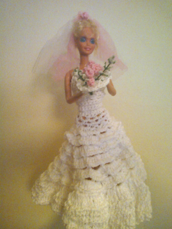 Lana E Filati Pontedera Abito Da Sposa Barbie Alluncinetto
