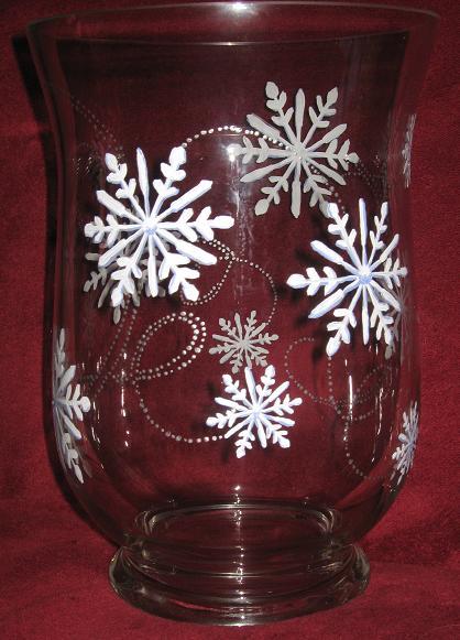 Charmed Handpainted Snowflake Vase
