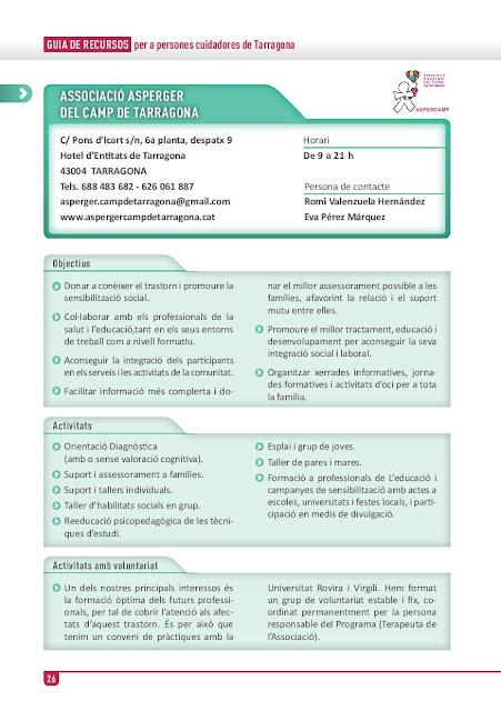Xarxa de Suport a les Famílies Cuidadores de Tarragona: Associació Asperger del Camp de Tarragona